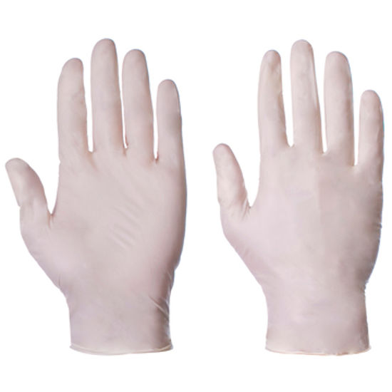 Picture of super touch Latex gloves