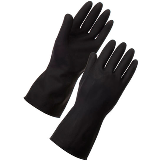 Picture of super touch household gloves  black